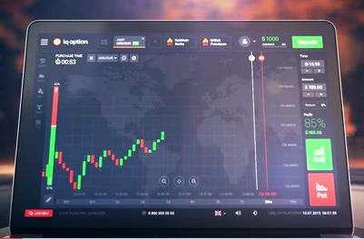 come appare il grafico della strategia tre corvi neri nella piattaforma del broker iq option