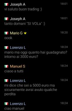 esempio chat iq option