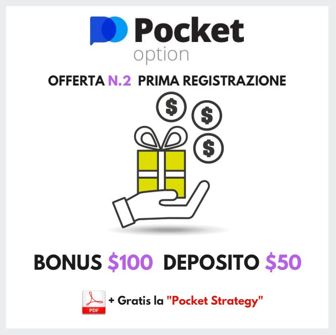 Pocket Option Deposito $50 Buono$100