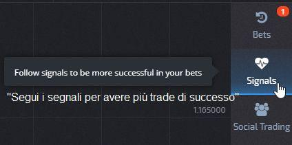 Segnali di trading Pocket option