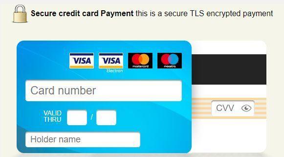 Pagamento anche con Visa e Mastercard