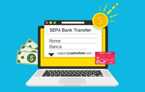 Come depositare su OptionField con bonifico SEPA