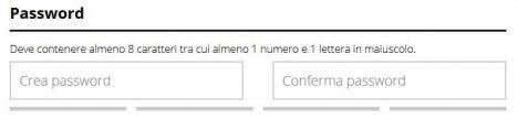 scegliere una password