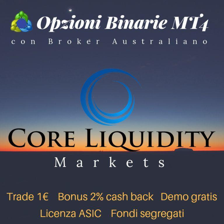 Recensione Core Liquidity Markets Broker Binarie MT4