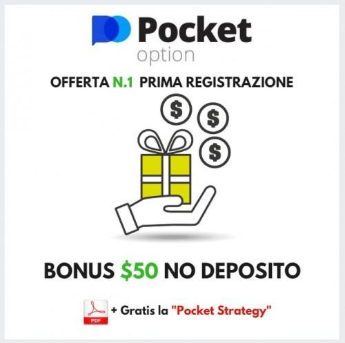 Bonus di Pocket Option con link ForzaForex