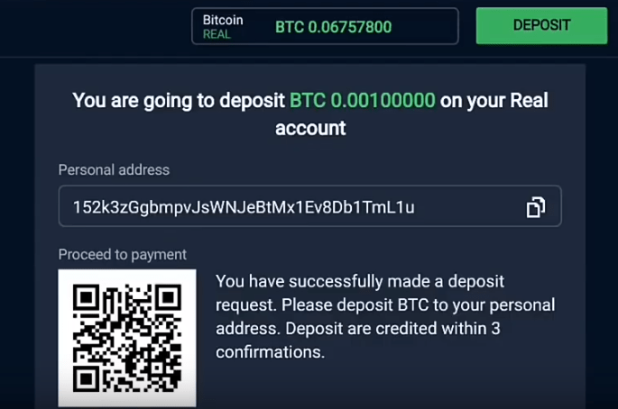 Your Broker Bitcoin Address