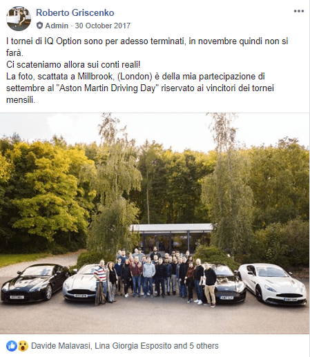 Londra 30 Ott 17. Vincitori torneo Aston Martin