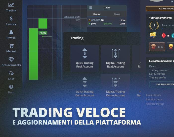 POCKET OPTION. TRADING VELOCE E AGGIORNAMENTI DELLA PIATTAFORMA
