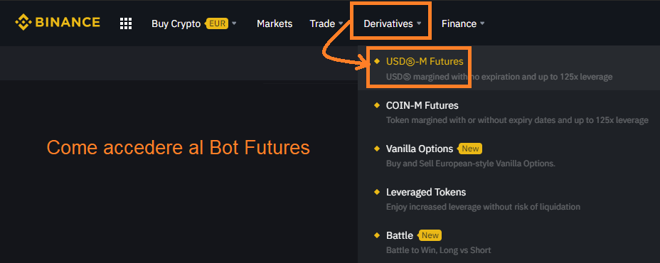 ROBOT BINANCE con Futures