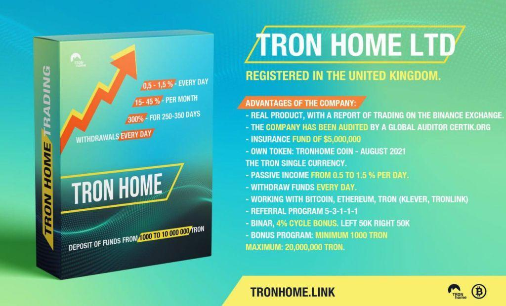 Register on the Tron Home website